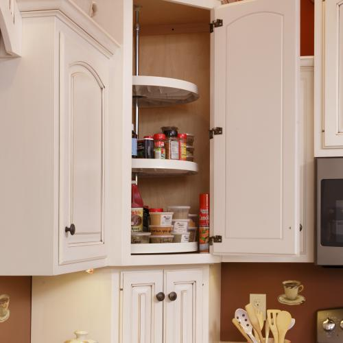 Top kitchen corner cupboard with lazy Susan in Liverpool, PA