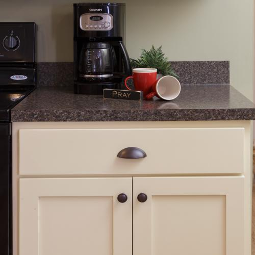 Quality hardwood kitchen cabinets and Formica countertop in Liverpool, PA