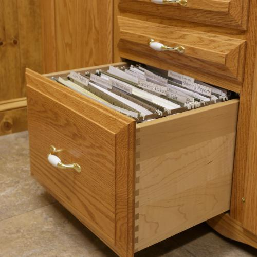 Easy slide hanging file folder drawer with dovetail joints