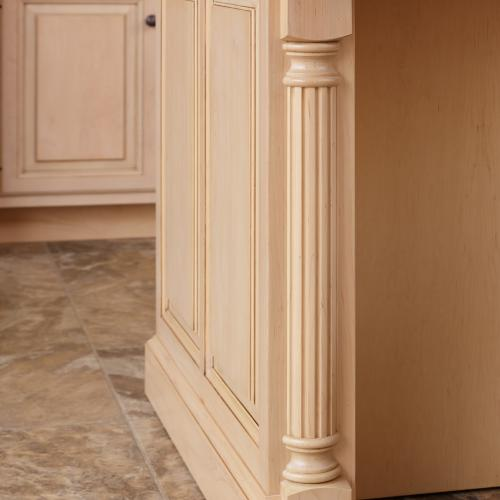 Decorative pillar design on kitchen island in Harrisburg, PA